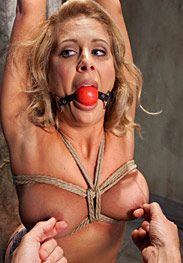 Slave training a big tit blonde bombshell - Fucked in tight rope bondage and slave trained by The Training of O