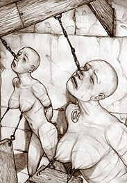 Slave market - These particular ones were specially selected as good ponygirl stock by Hines