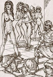Slave market - This my sweet will give your new masters a better look at you by Leo Ranardo